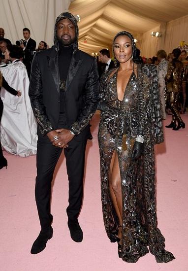 Diễn viên Gabrielle Union tạo dáng cùng chồng, ngôi sao bóng rổ Dwyane Wade. Ảnh: AP.