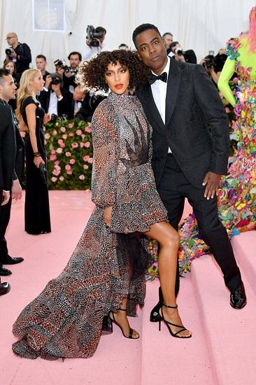 Diễn viên hài Chris Rock cùng vợ Megalyn Echikunwoke. Ảnh: Film Magic.
