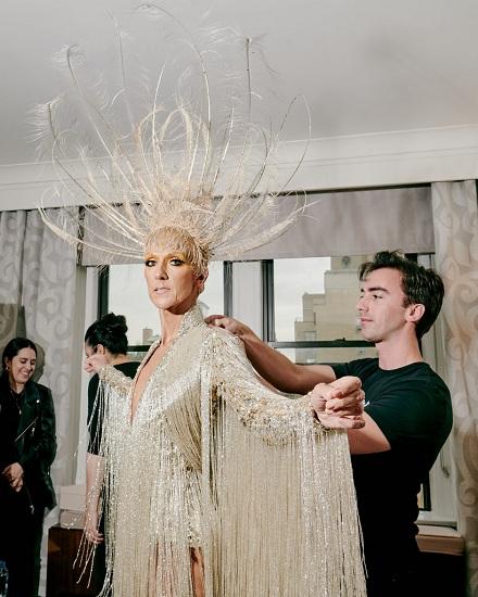 Bộ trang phục Celine Dion chuẩn bị cho đêm dạ tiệc. Ảnh: New York Times.