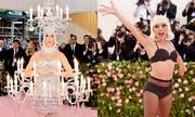 Lady Gaga cởi váy ba lần trên thảm đỏ