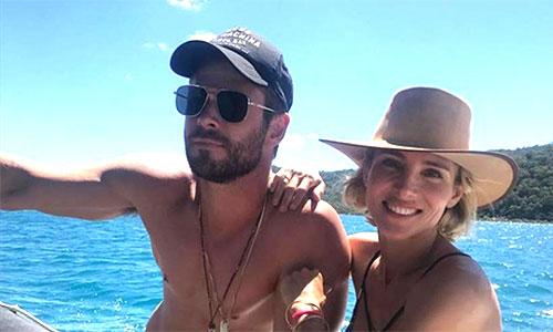 Năm 2017, Chris Hemsworth mừng sinh nhật tuổi 34 bên vợ tại một resort sang trọng ở Australia.