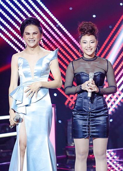 Thí sinh Hoàng My (trái) và Layla.