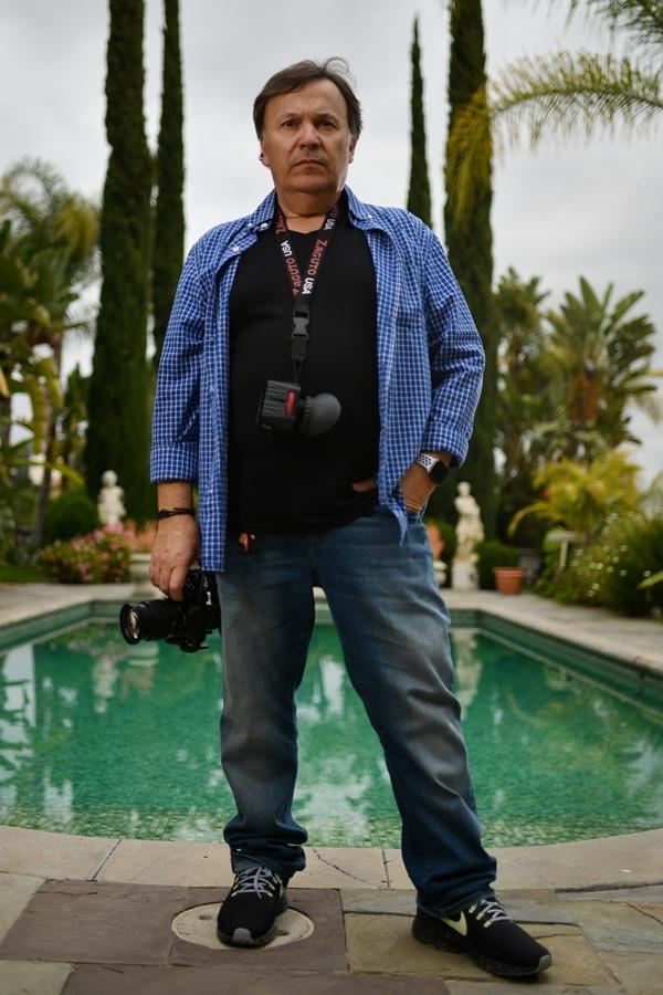 Phạm Hương tạo dáng trước ống kính nhiếp ảnh gia Brazil