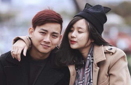 Hoài Lâm bên bạn gái.