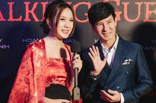 Vợ chồng Lý Hải trong buổi ra mắt phim ở Australia.