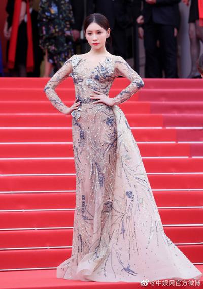 Thi Dư Phi trên thảm đỏ Cannes 2019.