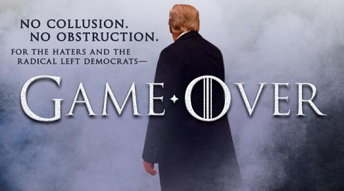 Ông Trump chế ảnh với font chữ giống trong Game of Thrones, đăng trên Twitter mừng một chiến thắng chính trị của mình.