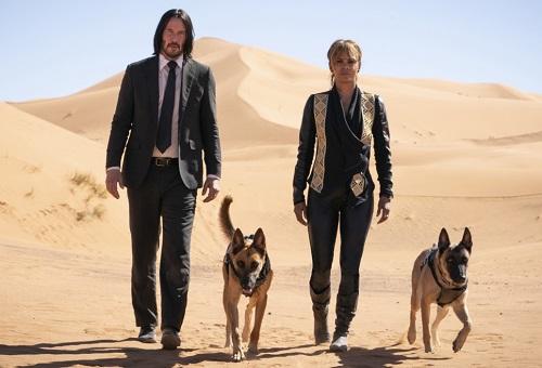 Trong phim, những chú chó sát thủ, phục vụ cho nhân vật Sofia (phải) có một trường đoạn ấn tượng. Ảnh: Lionsgate.
