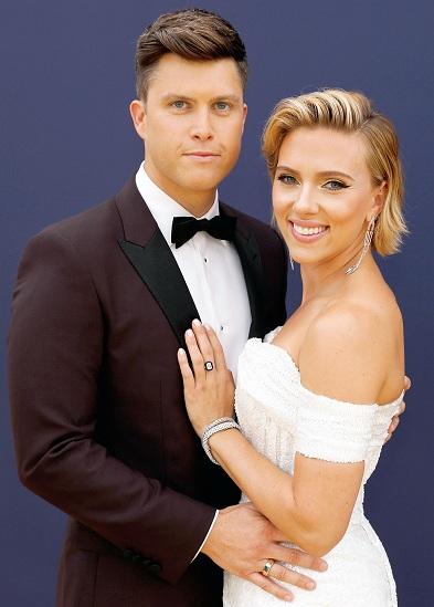 Colin Jost và Scarlett Johansson. Ảnh: Us Magazine.