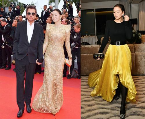 Củng Lợi và chồng tại Cannes.