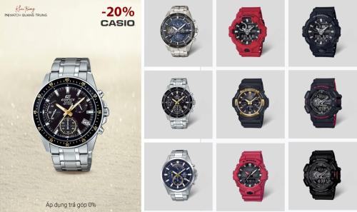 PNJ Watch áp dụng ưu đãi 20% đối với đồng hồ Casio, 10% đối với đồng hồ Tissot, ngoài ra với mỗi hoá đơn mua hàng bất kì khách hàng sẽ nhận được voucher 15% áp dụng cho 2 thương hiệu độc quyền là đồng hồ Thuỵ Sĩ Jowissa và Italia Lancaster cho lần mua tiếp theo.