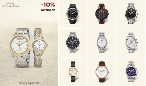 BST Đồng hồ Tissot ưu đãi 10%