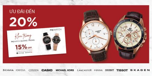 Ngày 25/5 PNJ Watch sẽ khai trương và đưa vào hoạt động cửa hàng thứ 18 trên toàn hệ thống (cửa hàng PNJ Watch thứ 2 ở Gò Vấp) tại địa chỉ 632-632A Quang Trung, phường 11, quận Gò Vấp , TP HCM với chương trình ưu đãi đến 20% khi mua sắm tại đây.Hướng đến mục tiêu trở thành chuỗi bán lẻ đồng hồ chính hãng uy tín và có quy mô hàng đầu tại Việt Nam, PNJ Watch không ngừng mở rộng và phát triển để mang đến cho khách hàng trải nghiệm dịch vụ tốt nhất.Ngoài mua trực tiếp tại cửa hàng, PNJ Watch còn áp dụng hình thức mua hàng đa kênh online như website, Facebook, hotline...Theo đó, khách hàng có thể ở nhà và vẫn được hưởng dịch vụ tư vấn cũng như đặt hàng nhanh chóng, tiện lợi.