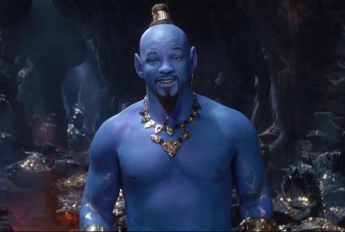 Aladdin gây cười với thần đèn do Will Smith đóng