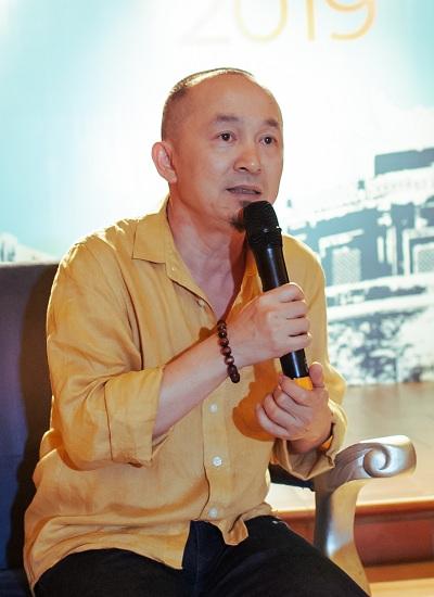 Nhạc sĩ Quốc Trung trong buổi họp báo giới thiệu Lễ hội âm nhạc Gió Mùa 2019.