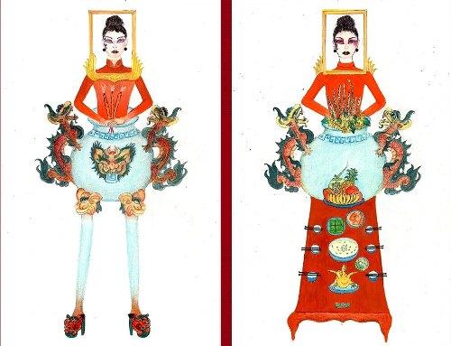 Bản thảo trang phục Bàn thờ.