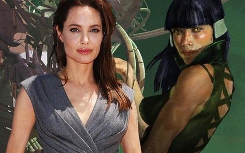 Angelina Jolie đóng Sersi - một người thuộc chủng Eternal có khả năng điều khiển vật chất nhờ xáo trộn các phân tử. Ảnh: ComicVine.