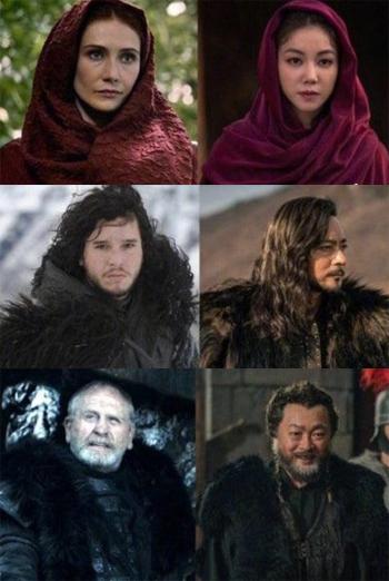 Tạo hình nhân vật của Niên sử ký Arthdal bị cho sao chép ý từ Game Of Thrones.