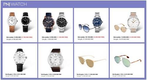 Mẫu đồng hồ và mắt kính đang có mặt tại cửa hàng và website của PNJ Watch.