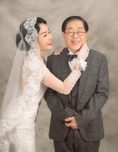Ảnh cưới của đôi vợ chồng.