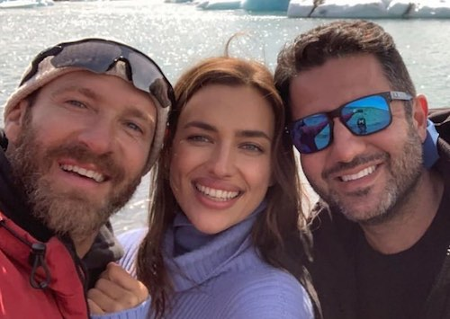 Irina cùng nhiếp ảnh gia Giampaolo (trái) và người đại diện Ali Kavoussi. Ảnh: Instagram.