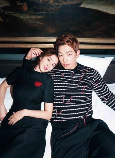 Vợ chồng Bi Rain và Kim Tae Hee.