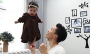 Quốc Nghiệp diễn xiếc cùng con gái 6 tháng tuổi