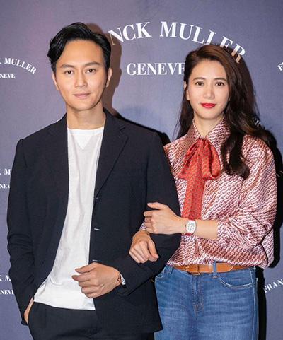 Vợ chồng Trương Trí Lâm tại sự kiện. Ảnh: Ettoday.