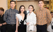 Hoa hậu Hải Dương phủ hàng hiệu đi sự kiện