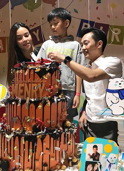 Hồ Ngọc Hà, Cường Đôla cùng tổ chức sinh nhật con trai