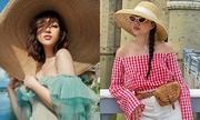 Sao Việt chuộng đồ hở chân, vai ngày nóng