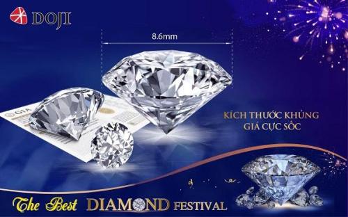 Mua kim cương theo giá của bạn, giảm giá cực sâu với kim cương khủng, Dojisẵn sàng cung cấp lựa chọn ưng ý với mọi khoảng giá khách hàng đưa ra.