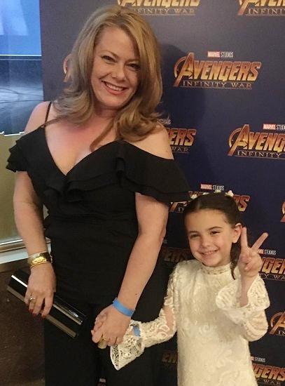 Lexi Rabe cùng mẹ tham gia buổi công chiếu Avengers: Endgame tại Mỹ hồi tháng 4. Ảnh: Instagram.