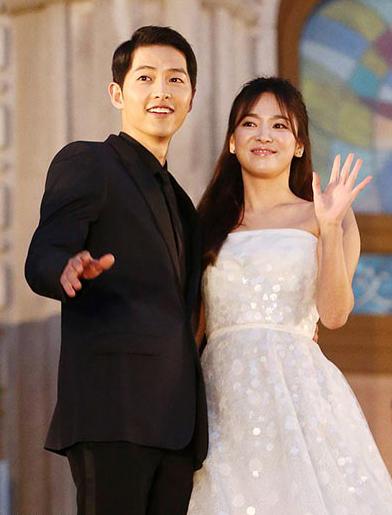 Song Hye Kyo, Song Joong Ki khi còn yêu nhau. Ảnh: Osen.