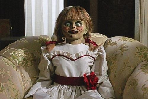 Trong phim, Annabelle không cử động mà chỉ gây sợ hãi do thay đổi vị trí giữa các cảnh quay.