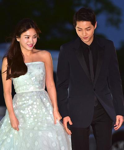 Song Hye Kyo và Song Joong Ki. Ảnh: Osen.