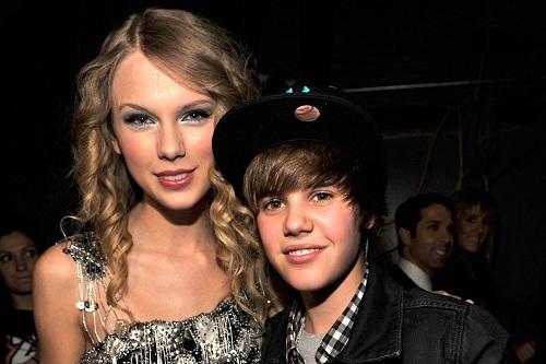 Taylor Swift và Justin Bieber. Ảnh: Instagram.
