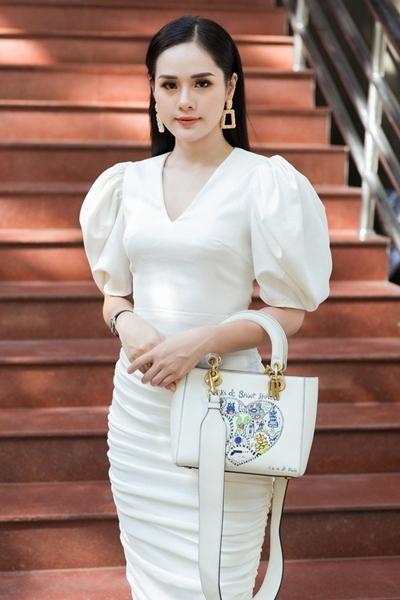 Huyền Trang tại vòng sơ khảo Miss World Vietnam ở Hà Nội ngày 29/6.