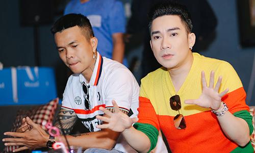 Nhạc sĩ Phúc Trường (trái) và ca sĩ Quang Hà.