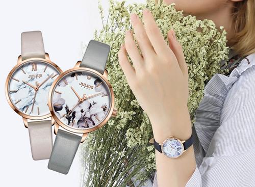 Đồng hồ nữ dây da Hàn Quốc Julius chính hãng JA-1101C