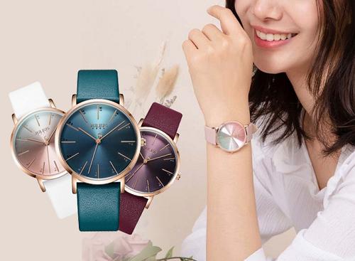 Đồng hồ nữ Hàn Quốc Julius chính hãng dây da JA-1161 ( đủ màu)