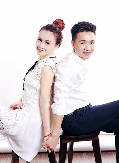 Diễn viên Hoàng Yến và chồng - anh Thắng Cao.