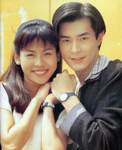 Cổ Thiên Lạc và Tuyên Huyên thời đóng phim ở TVB. Ảnh: On.