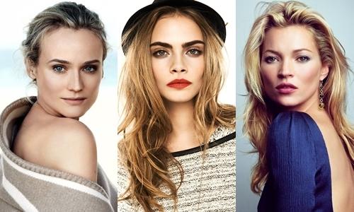 Ba nàng thơ của Karl Lagerfeld góp mặt trong dự án: Diane Kruger, Cara Delevingne, Kate Moss (từ trái qua).