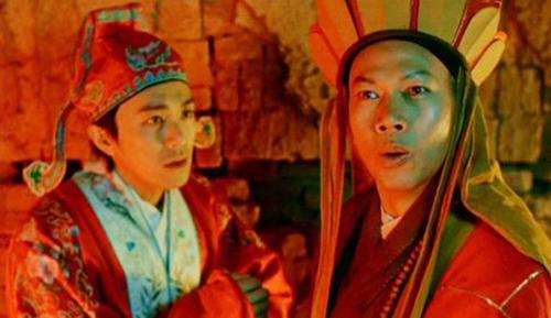 La Gia Anh (phải) và Châu Tinh Trì trong Đại thoại tây du. Ảnh: Sina.