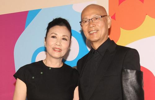 Vợ chồng La Gia Anh, Uông Minh Thuyên. Ảnh: stheadline.