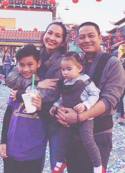 Gia đình Kim Hiền tại Mỹ.