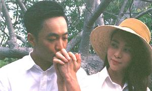 Cường Đôla hôn Đàm Thu Trang trong video cưới