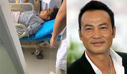 Nhậm Đạt Hoa được đưa vào bệnh viện. Ảnh: Hk01.