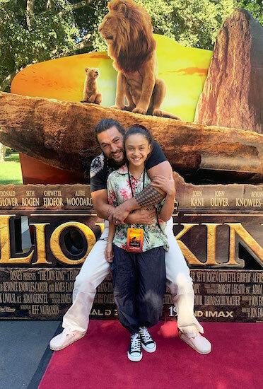 Jason Momoa tổ chức buổi chiếu phim The Lion King mừng sinh nhật con gái Lola. Ảnh: Instagram.